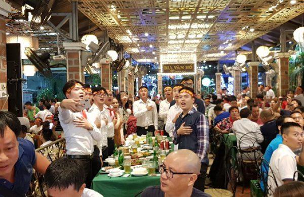 Quán bia xem bóng đá tại Hà Nội vừa có đồ ăn ngon vừa rộng rãi