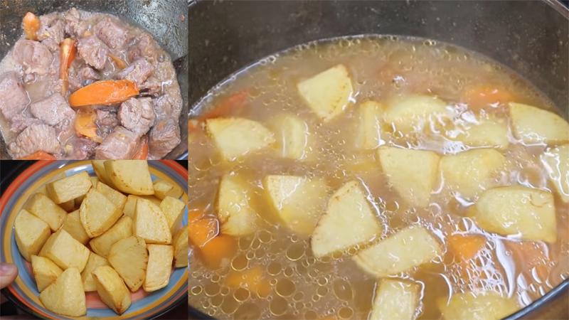 Cách nấu bò hầm khoai tây ngon ngất ngây, ăn hoài không ngán