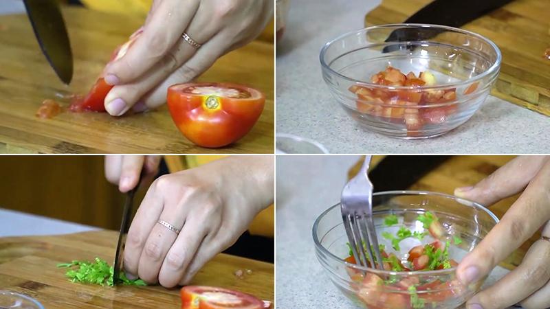 Làm hỗn hợp cà chua