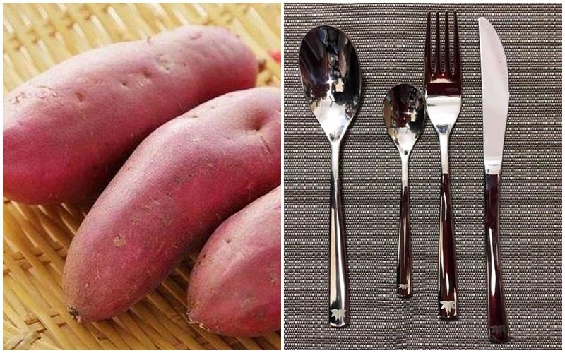 Nguyên liệu để luộc khoai lang không cần nước