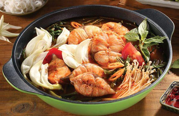 Cuối tuần vào bếp làm món lẩu cá lăng bông so đũa cho cả nhà cùng thưởng thức